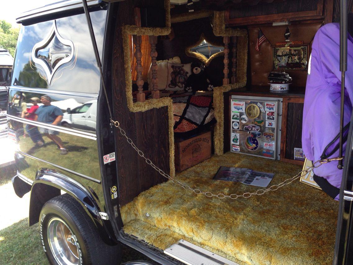 Custom 70s Van Interior With Shag Carpet
