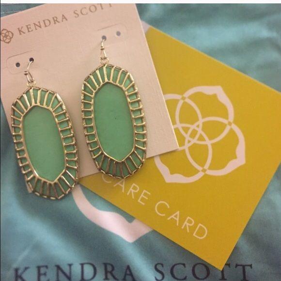 Kendra Scott mint earrings Danielle earrings. Never worn. Comes with dust bag and box Kendra Scott Jewelry Earrings