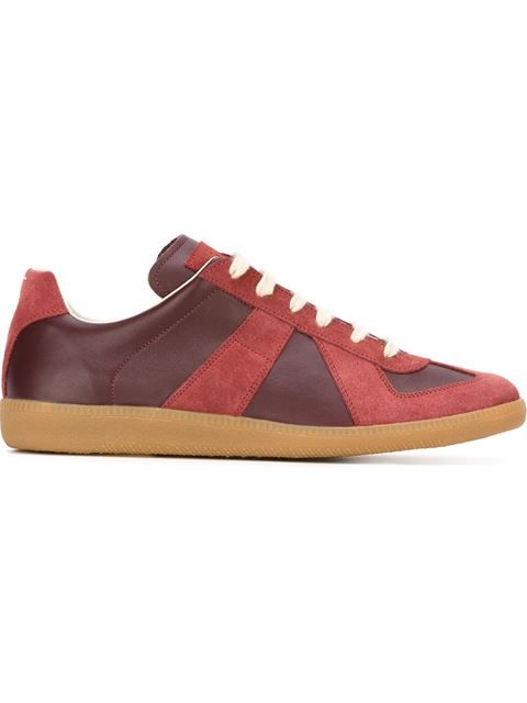 9d50a8654fc Shop Maison Margiela geometric paneled sneakers in Vitkac from the world s  best independent boutiques at farfetch.com. Shop 300 boutiques at one  address.