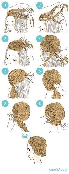 Photo of Elegance braided hair arrangement[with illustration … –  Elegance braided hair…