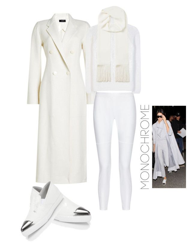 """Whitie-chromateek😉"" by rhaxkido ❤ liked on Polyvore featuring Joseph, 10 Crosby Derek Lam, Loro Piana, Miu Miu and monochrome"