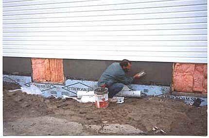 How To Parge A Block Wall Diy Exterior Wall Exterior Faux Brick Walls