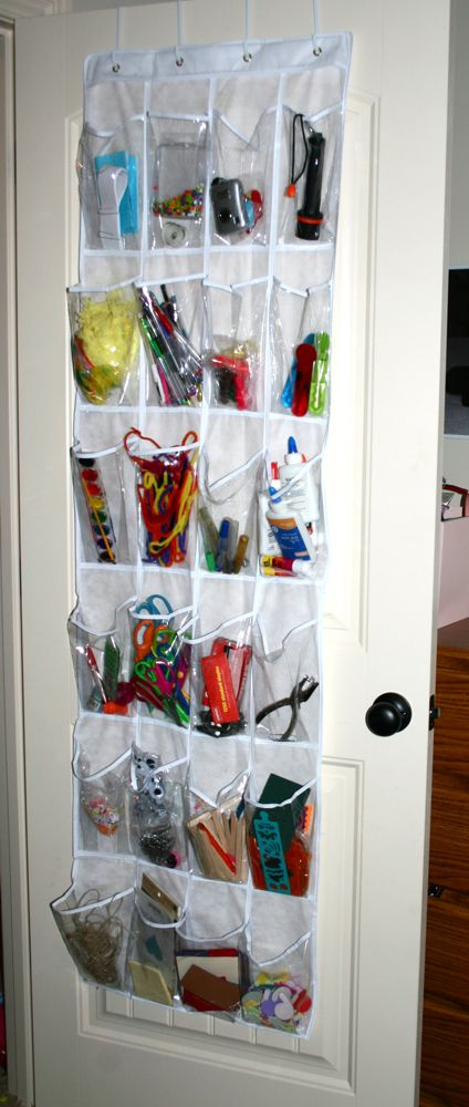 I Used An Over The Door Shoe Bag For My Office Supplies I Love