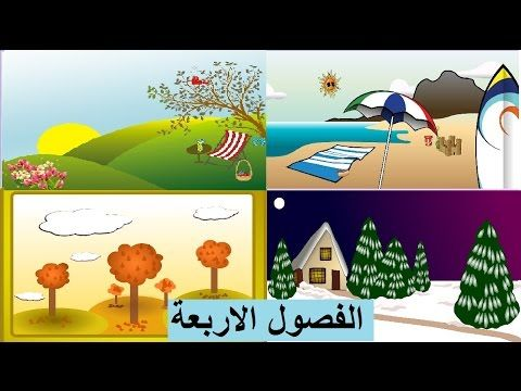 الفصول الاربعة Four Seasons Powerpoint Background Design Educational Videos Background Design