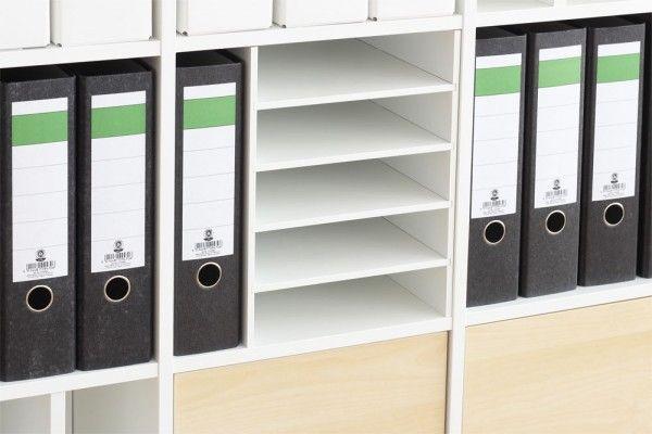 KALLAX REGALEINSATZ FÜR 12 Scrapbookpapier Postfach