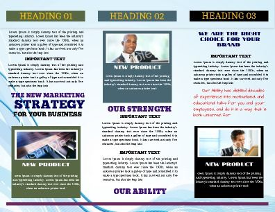 Tri-fold Business Brochure is perfect for product promotion and