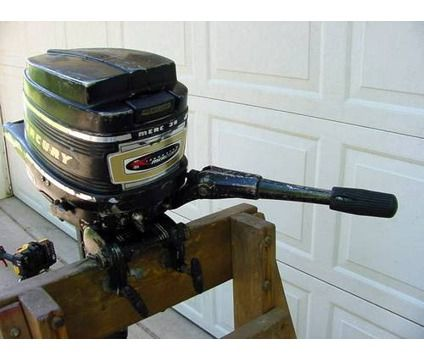 Mercury 3 9 hp Outboard -- the motor that the Jon boat