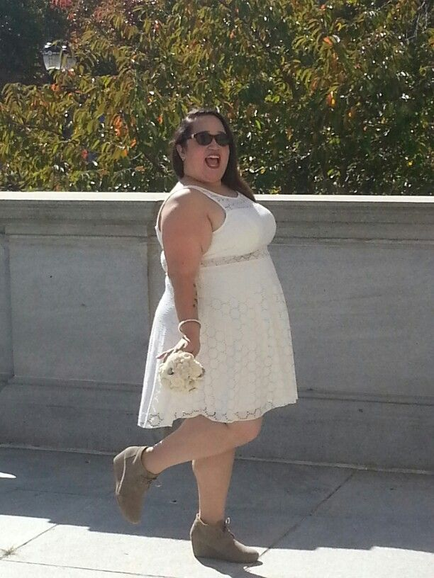Simple My wedding dress from Burlington Coat Factory PlusSizeBride BudgetBride