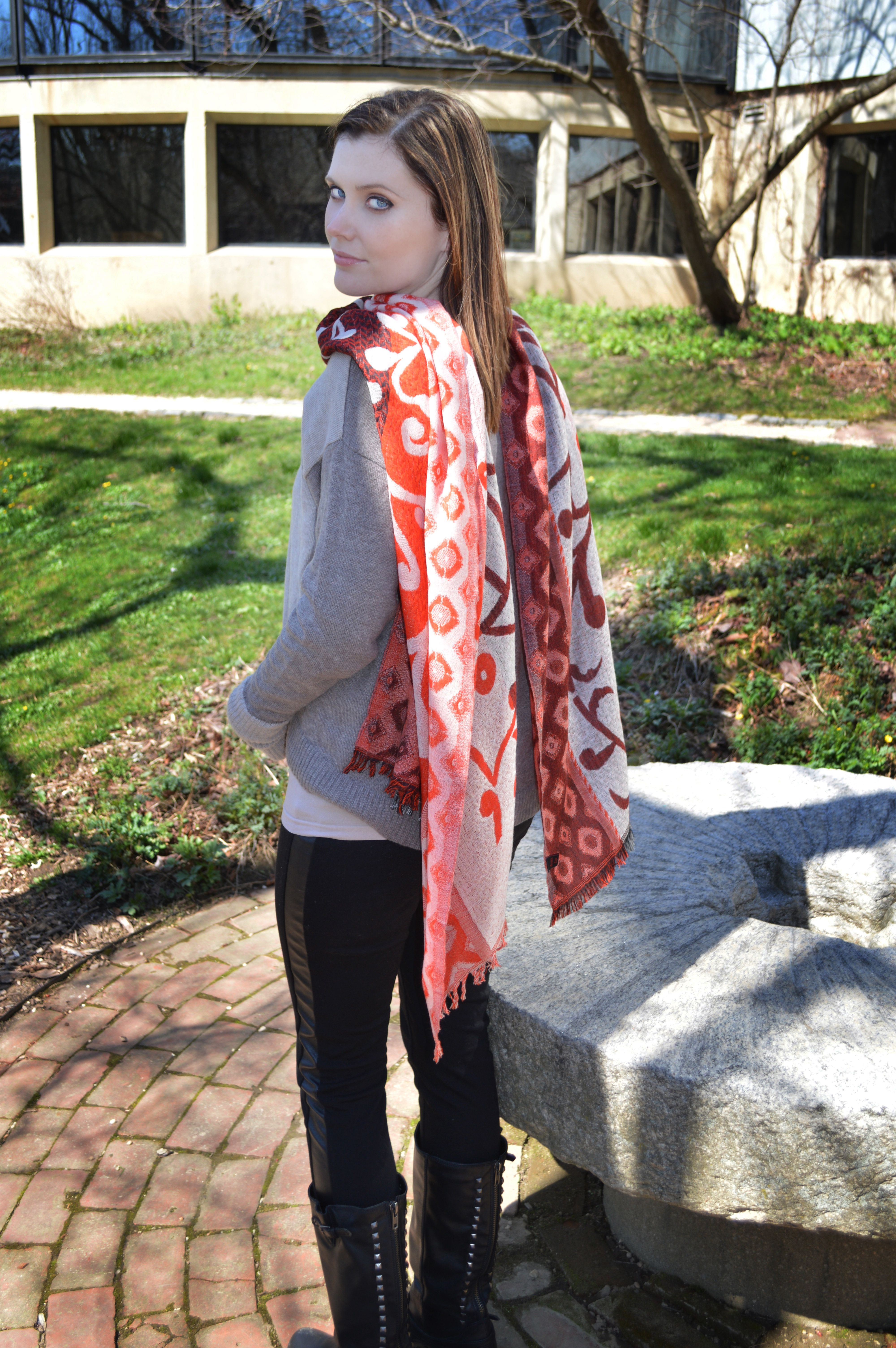 Devine Reversible and one of a kind 4panel scarf in