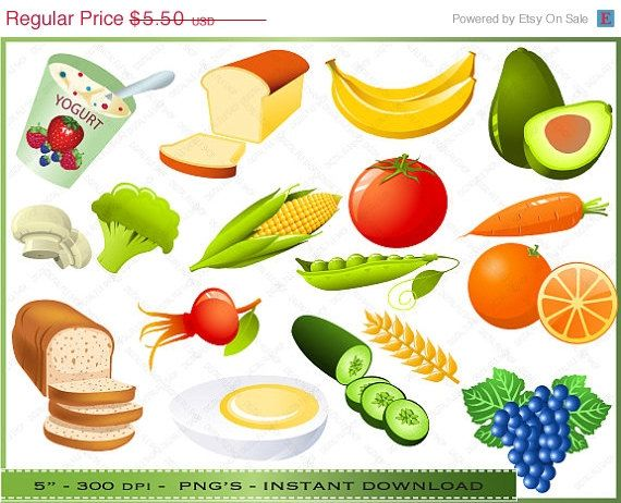 50% OFF SALE Food Clipart Clip Art of by Digitalclipartstore ...