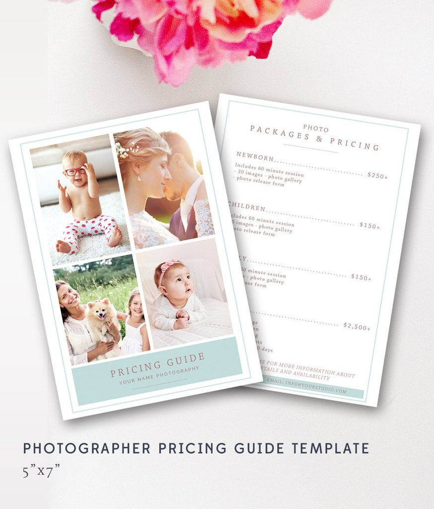 Photographer Pricing Guide Template  Lifestyle Photography Price