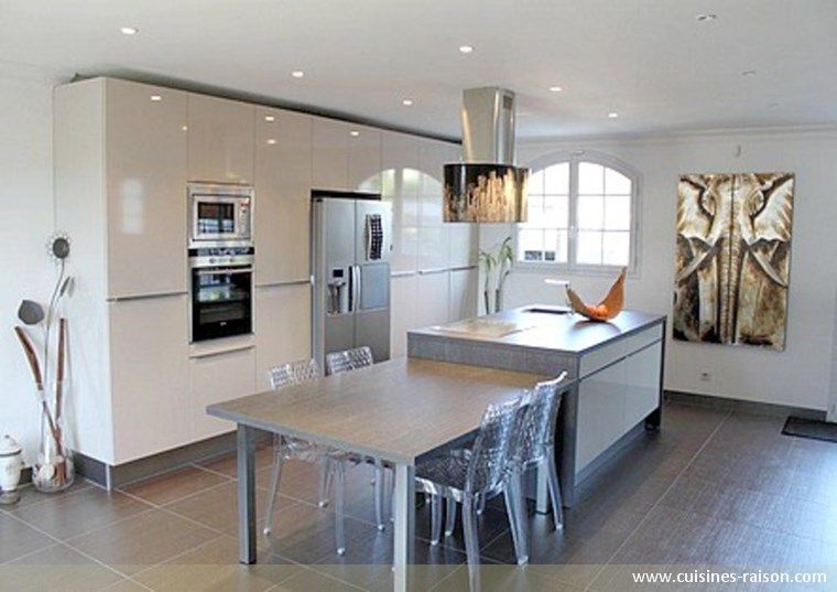 frigo am ricain dans cuisine recherche google cuisine ouverte pinterest frigo recherche. Black Bedroom Furniture Sets. Home Design Ideas