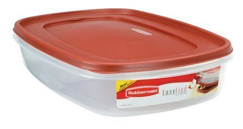 Rubbermaid 7j76 Easy Find Lid Rectangle 24 Cup Food Storage Container By Rubbermaid 10 14 Measures Approximatel Food Storage Containers Rubbermaid Easy Find