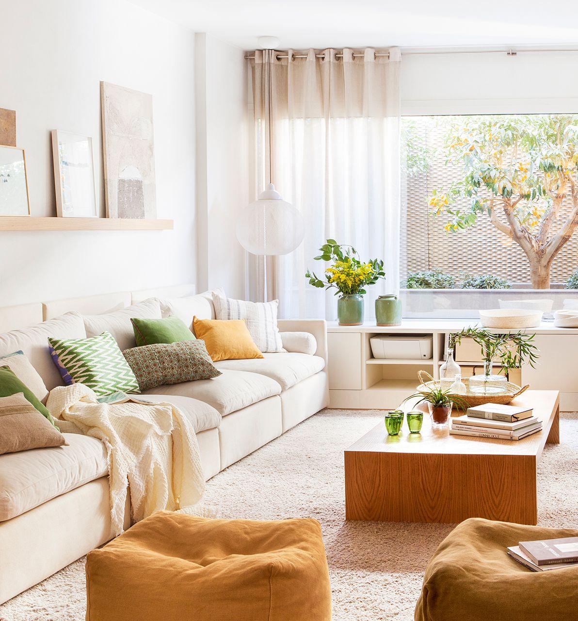 Zona de estar salones decorar salon muebles y salones - Decorar pared sofa ...