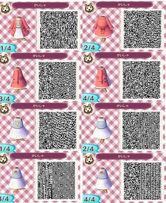 Dress Dress W Jacket Acnl Qr Code Animal Crossing Qr Code Acnl Qr Codes