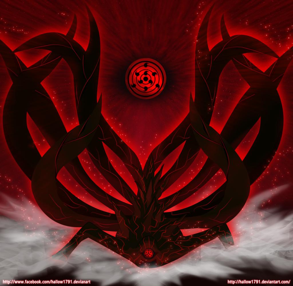 Naruto The Ten Tails Latar Belakang Gambar Seni