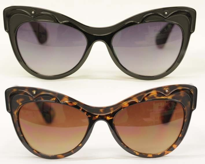 Cat Eye Sonnenbrille XXXL 50er 60er Jahre schwarz tortoise Rockabilly 152 tjBO7LE0
