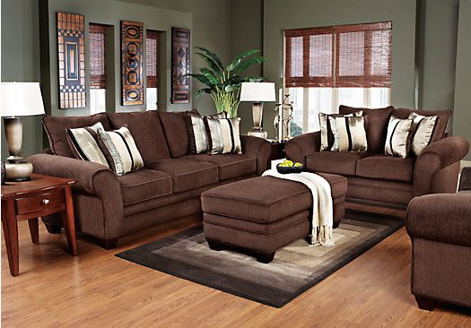 Shop For A Jersey Chocolate 7 Pc Living Room At Rooms To Go Find