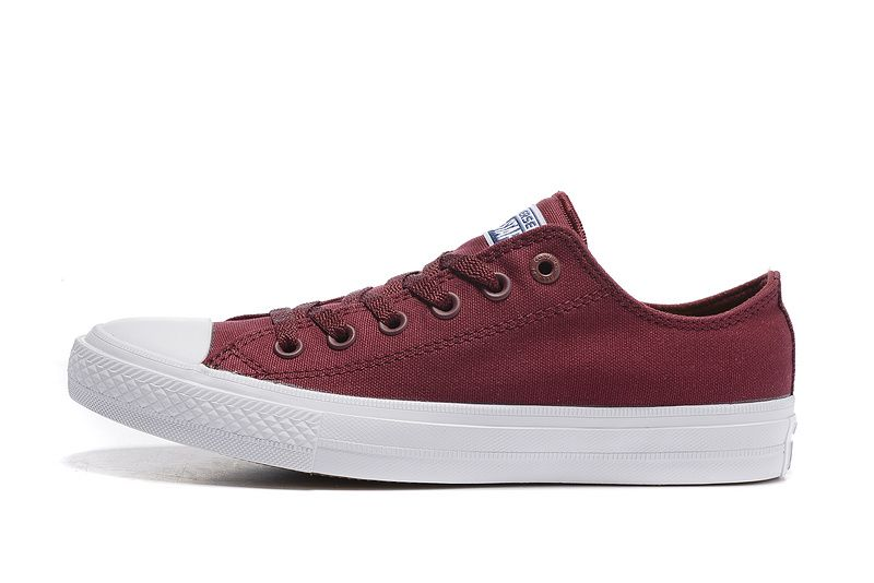 ef48df602269 Converse Dark Red Low Tops Chuck Taylor All Star II Womens Shoes ...
