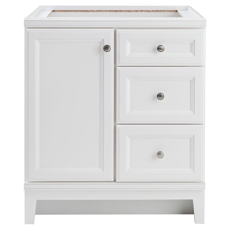 Diamond Freshfit Calhoun 30 In White Bathroom Vanity Cabinet Lowes Com White Vanity Bathroom Bathroom Vanities Without Tops Small Bathroom Vanities