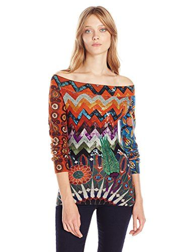 Desigual Womens Sweater Stay with Me Rojo Oscuro Small -- You can find more  details by visiting the image link.(This is an Amazon affiliate link and I  ... 58af64a5ff