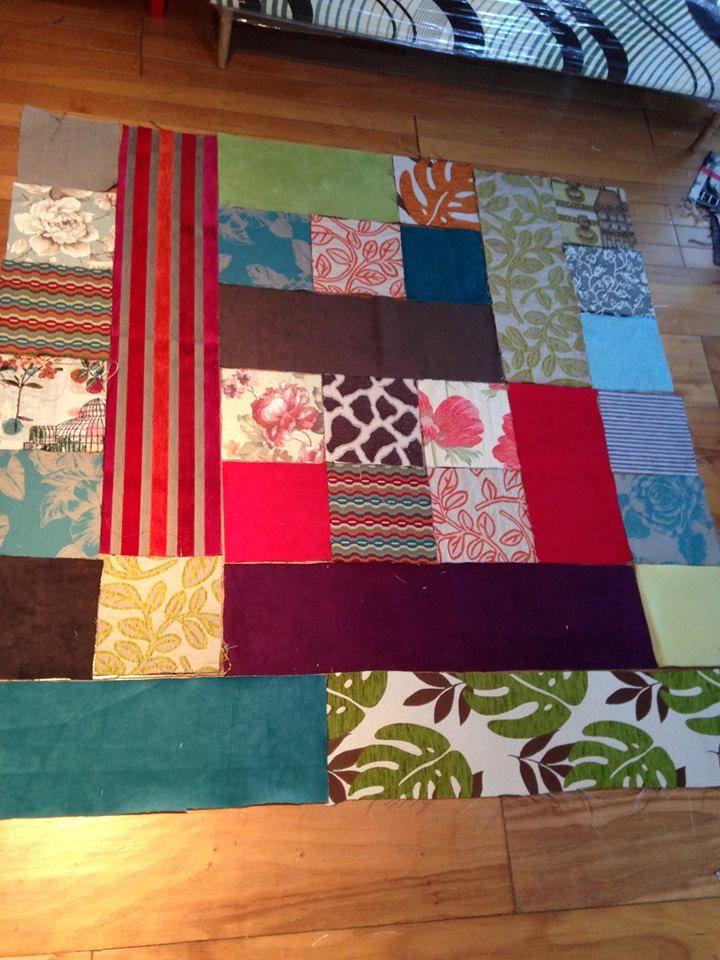 Patchwork con dise o a elecci n para tapizar tus sillones - Telas chenille para tapizar ...