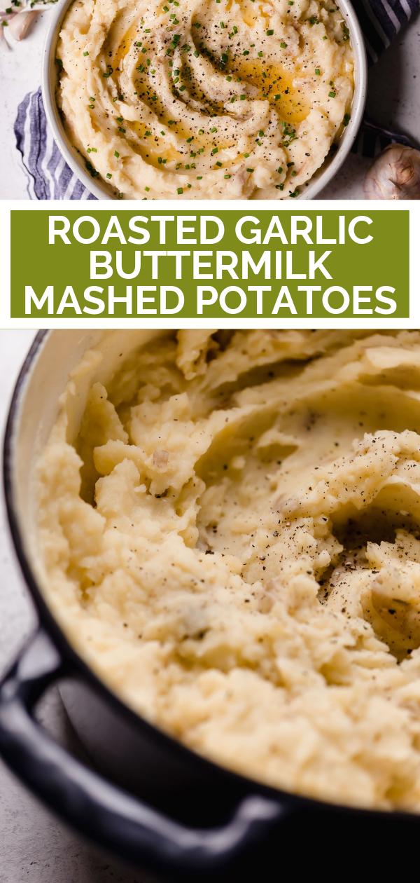Roasted Garlic Buttermilk Mashed Potatoes Plays Well With Butter Recipe Buttermilk Mashed Potatoes Mashed Potatoes Roasted Garlic