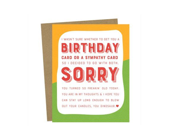 CAN BE PERSONALISED BELATED BIRTHDAY CARD FUNNY BANTER HUMOUR