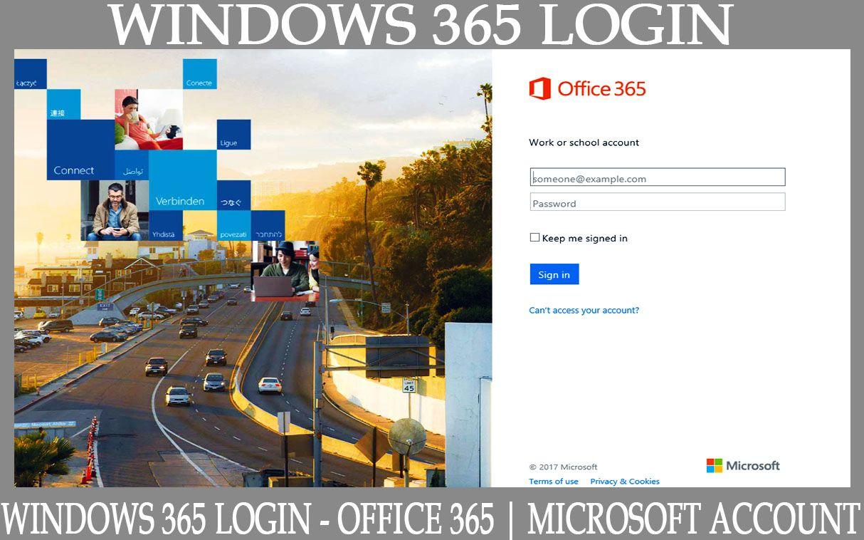 microsoft account login 365