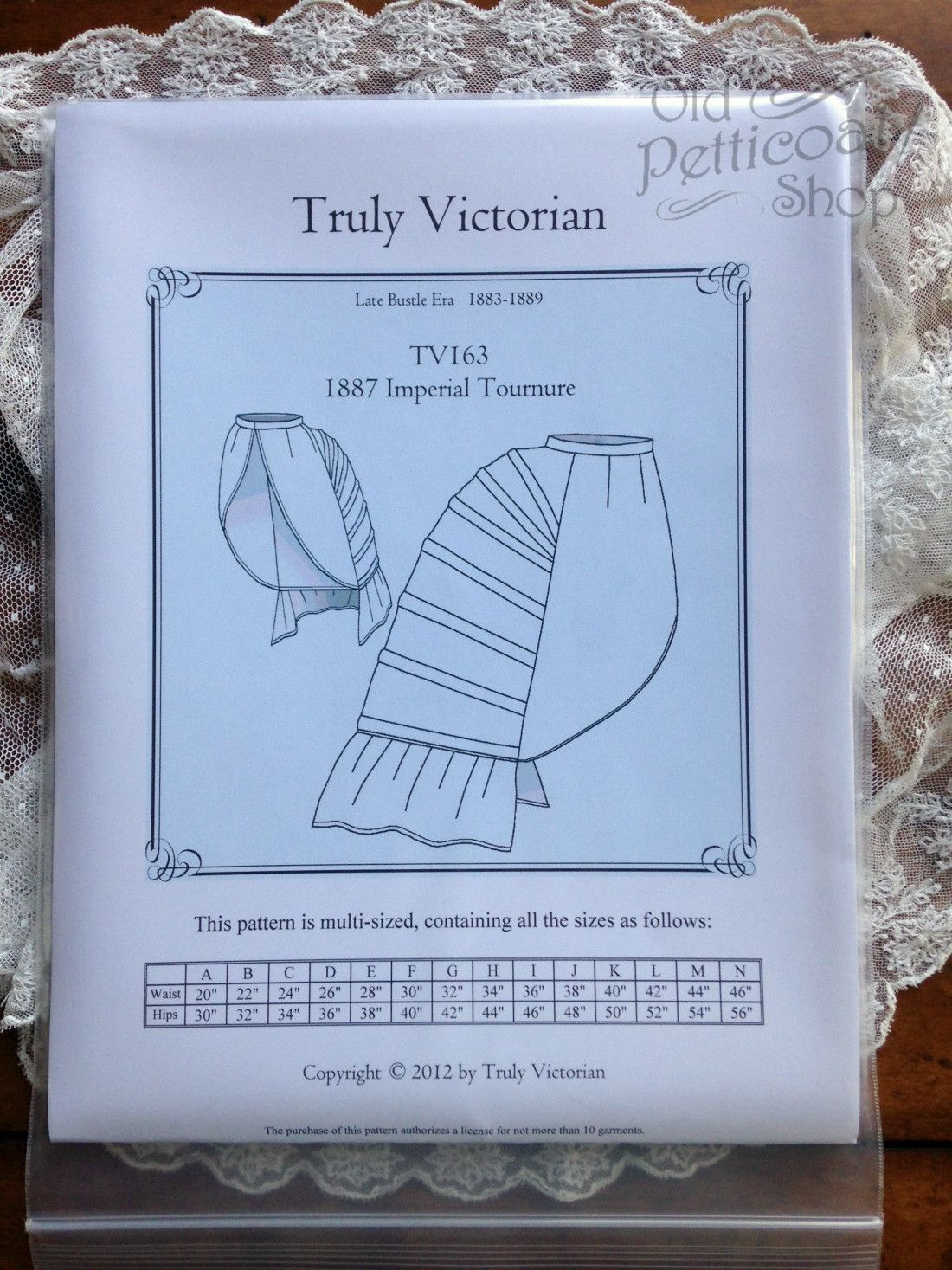 Truly Victorian TV163 1887 Imperial Tournure Bustle Pattern | LARP ...
