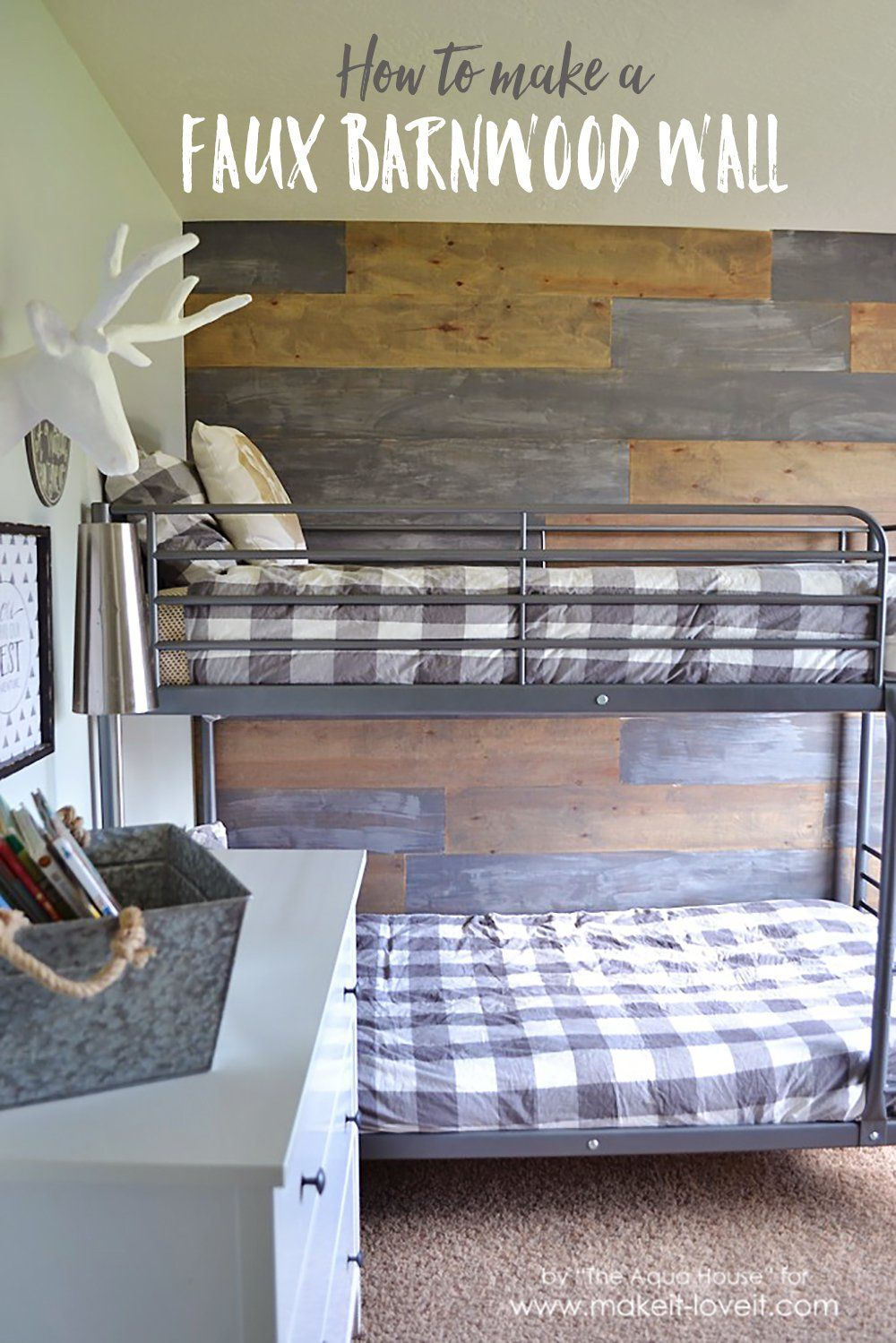 How To Make A Faux Barn Wood Wall For 30 Great Alternative Using Real If You Can T Find Reclaimed And Adds Rustic Touch Any Room
