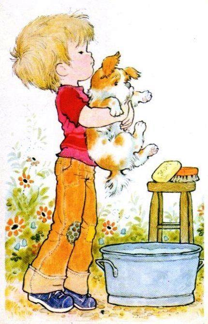 Banando Al Perro Sarah Kay Ilustraciones Dibujos Bonitos