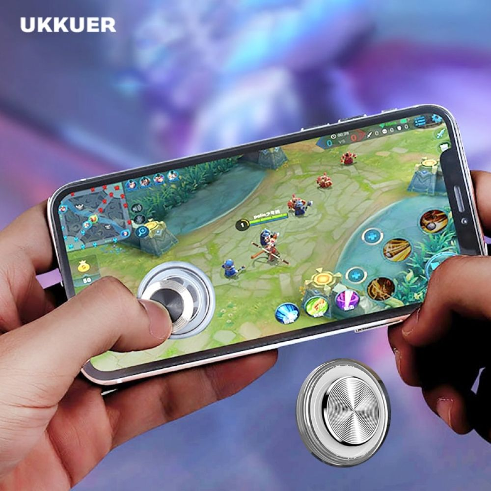 UKKUER Mobile Game Fire Metal Button Aim Key For Android