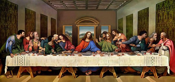 The Last Supper Painting Cuadro De La última Cena La Ultima Cena Ultima Cena De Jesus