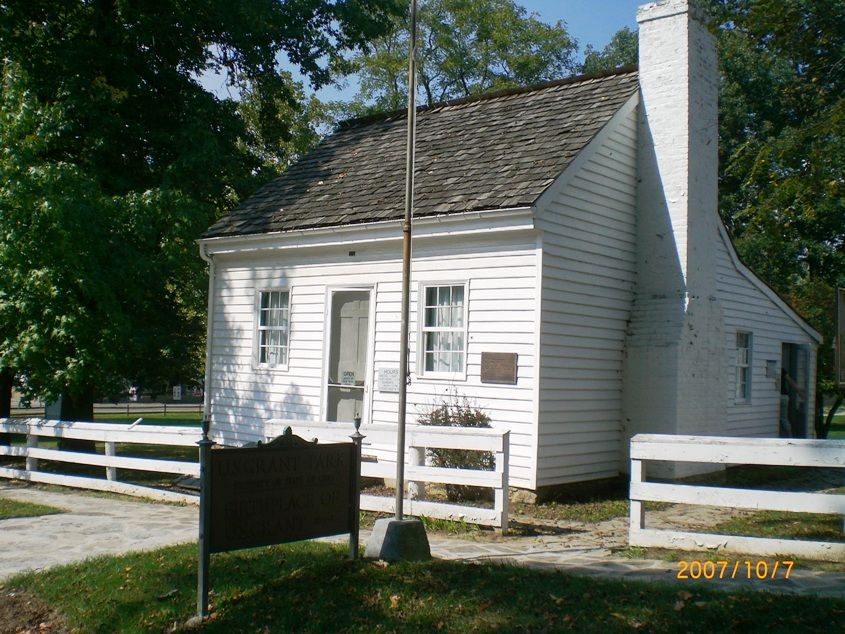 United states presidents 39 childhood homes ulysses s for Presidents and their home states
