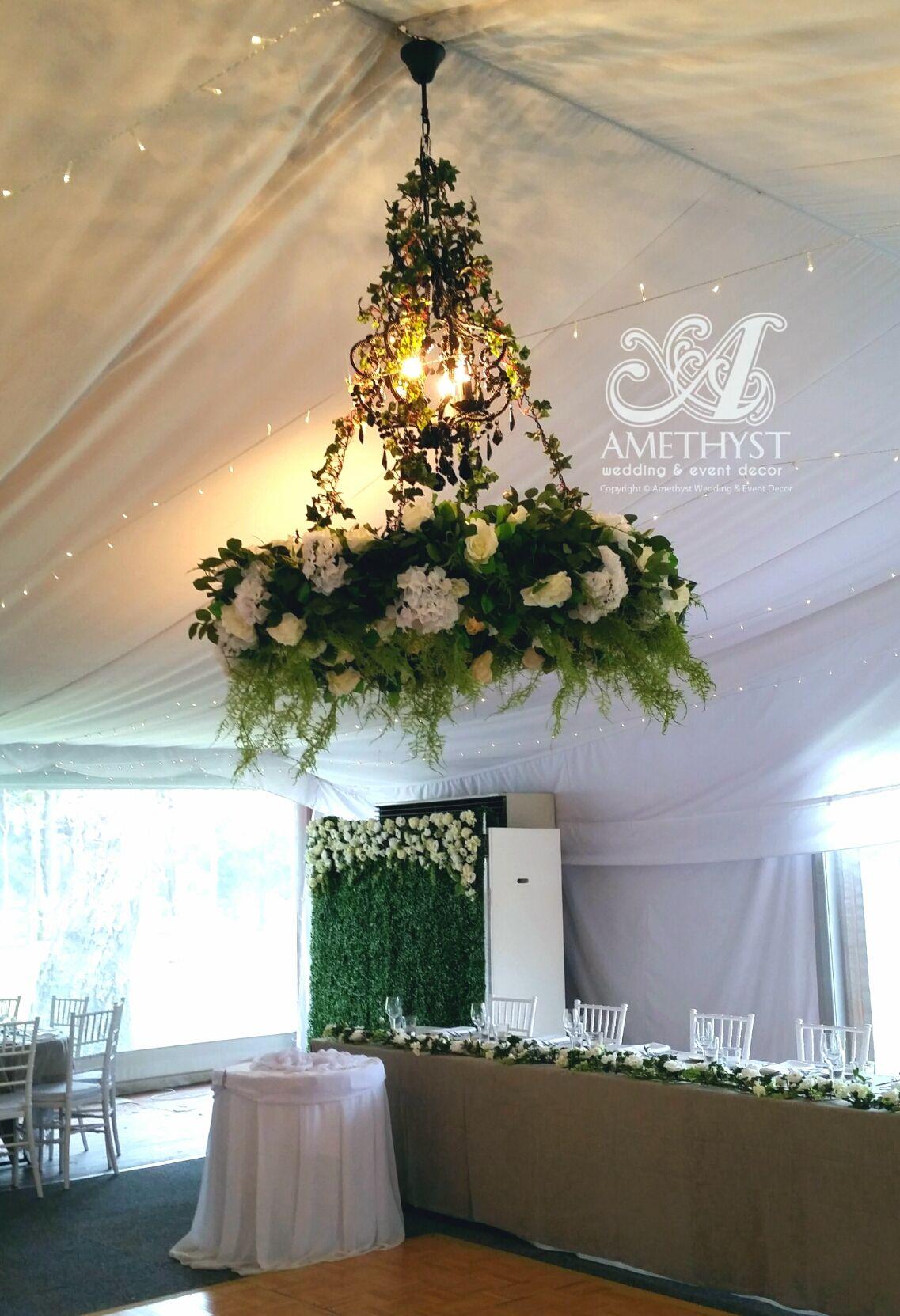 Floral chandelier green white 150diy hire amethyst wedding floral chandelier green white 150diy hire amethyst wedding event arubaitofo Choice Image