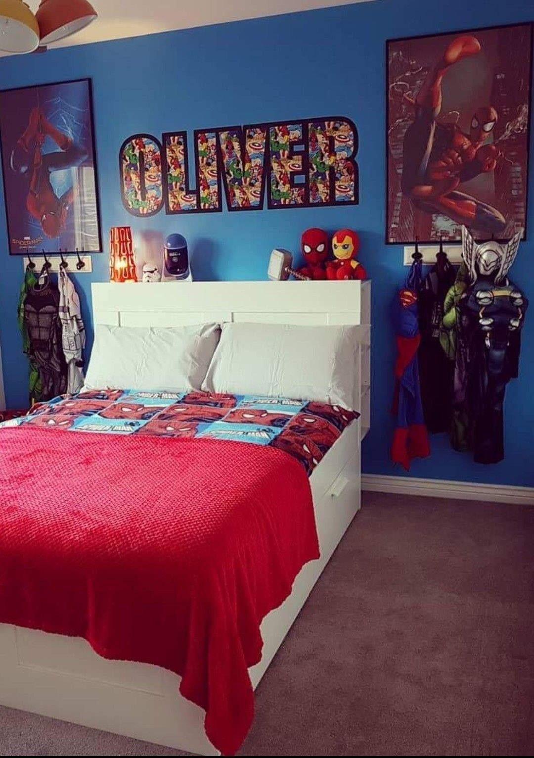 Pin By Neisha Keniston On Zayne Room Marvel Room Marvel Bedroom