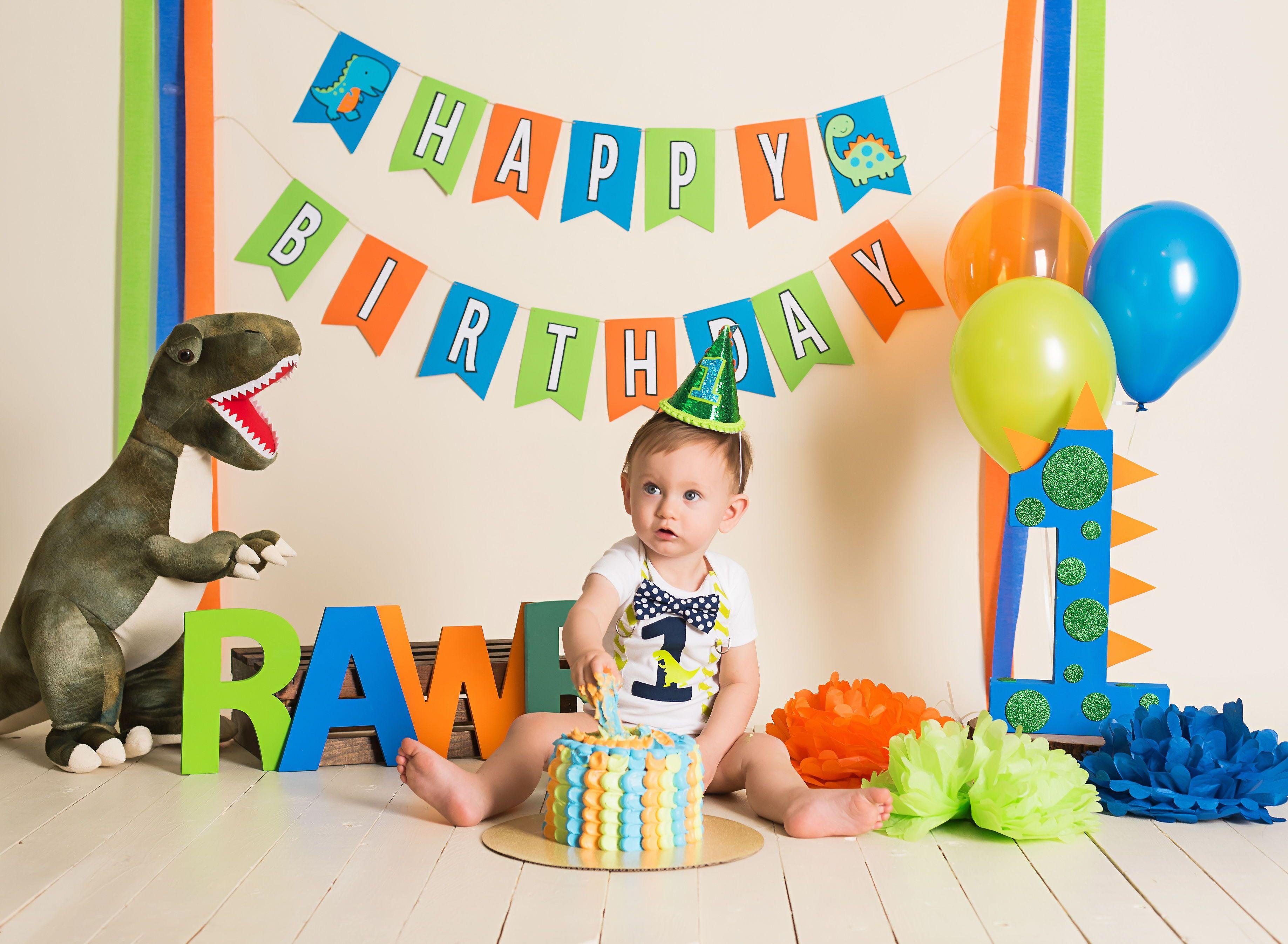 Dinosaur 1st Birthday Outfit