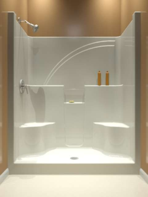 Shower Only One Piece Shower Remodel Shower Stall Fiberglass