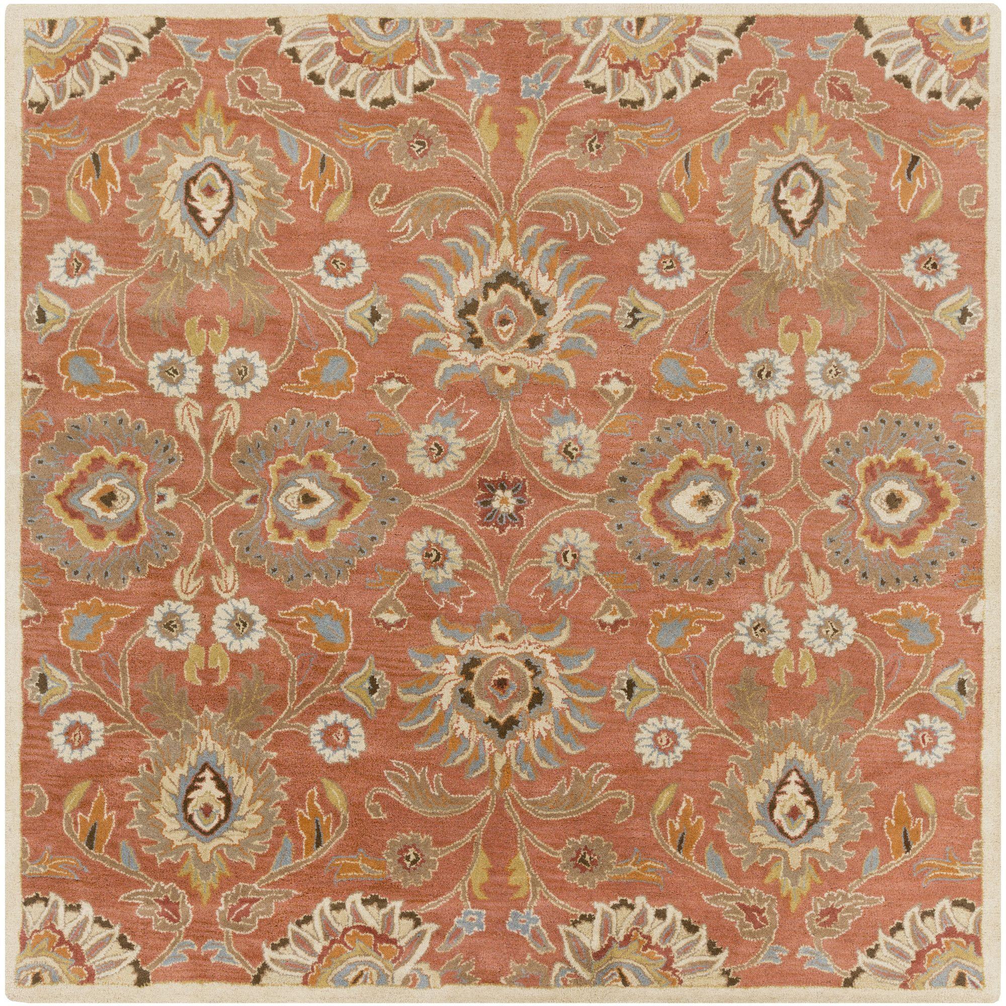 Colmar Orange Oriental Wool Hand Tufted Area Rug