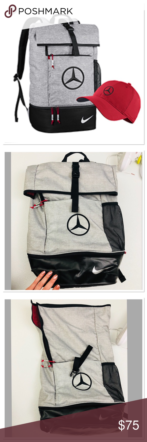 4152e9fb01b Nike Athletic Golf backpack Mercedes Benz logo The Nike Sport Backpack  features a fold-over