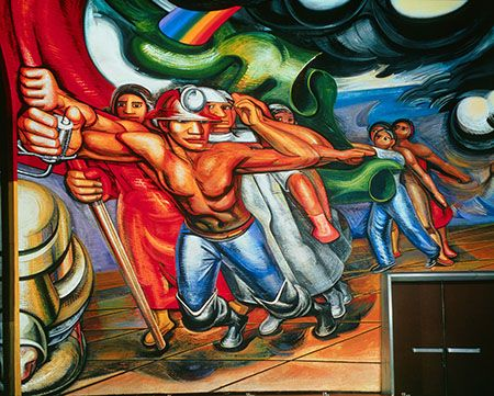 David Alfaro Siqueiros For The Complete Safety Of All Mexicans At