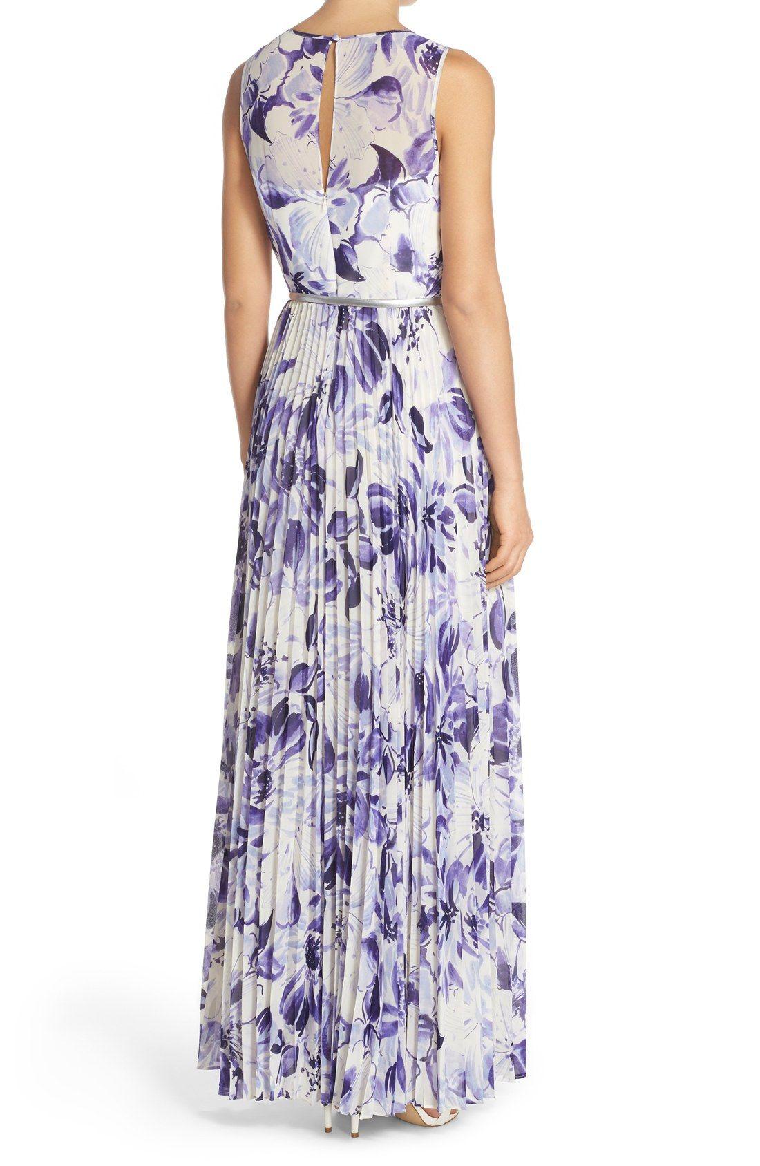 d9617500e245 Eliza J Belted Print Chiffon Maxi Dress (Regular & Petite ...