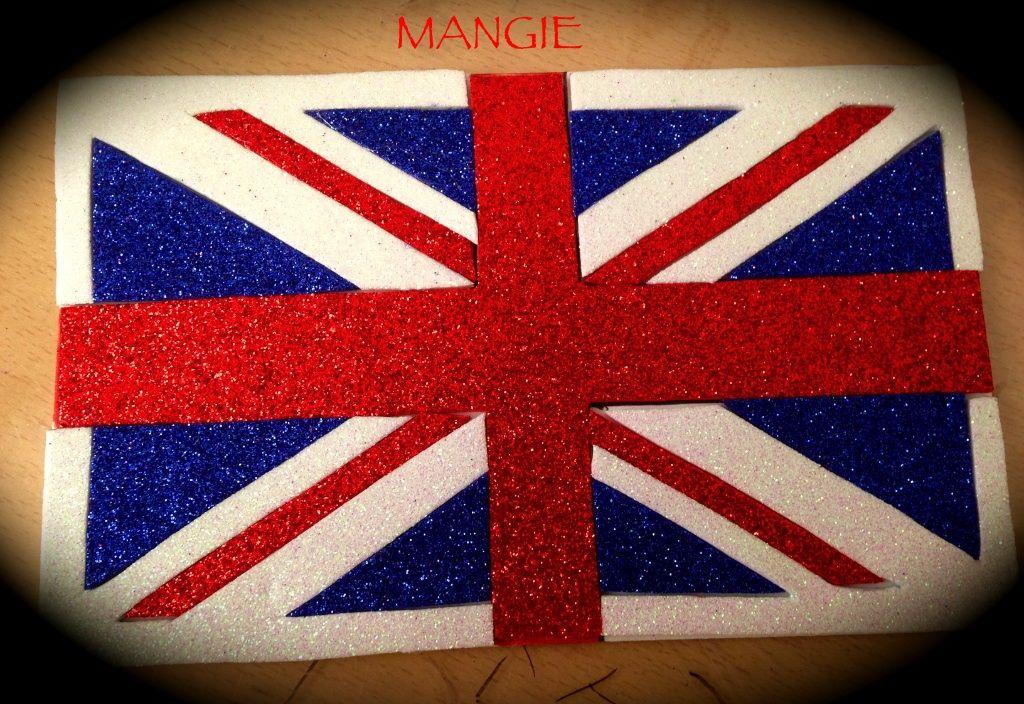 Bandera De Inglaterra Bandera De Inglaterra Bandera De England Nombre En Goma Eva