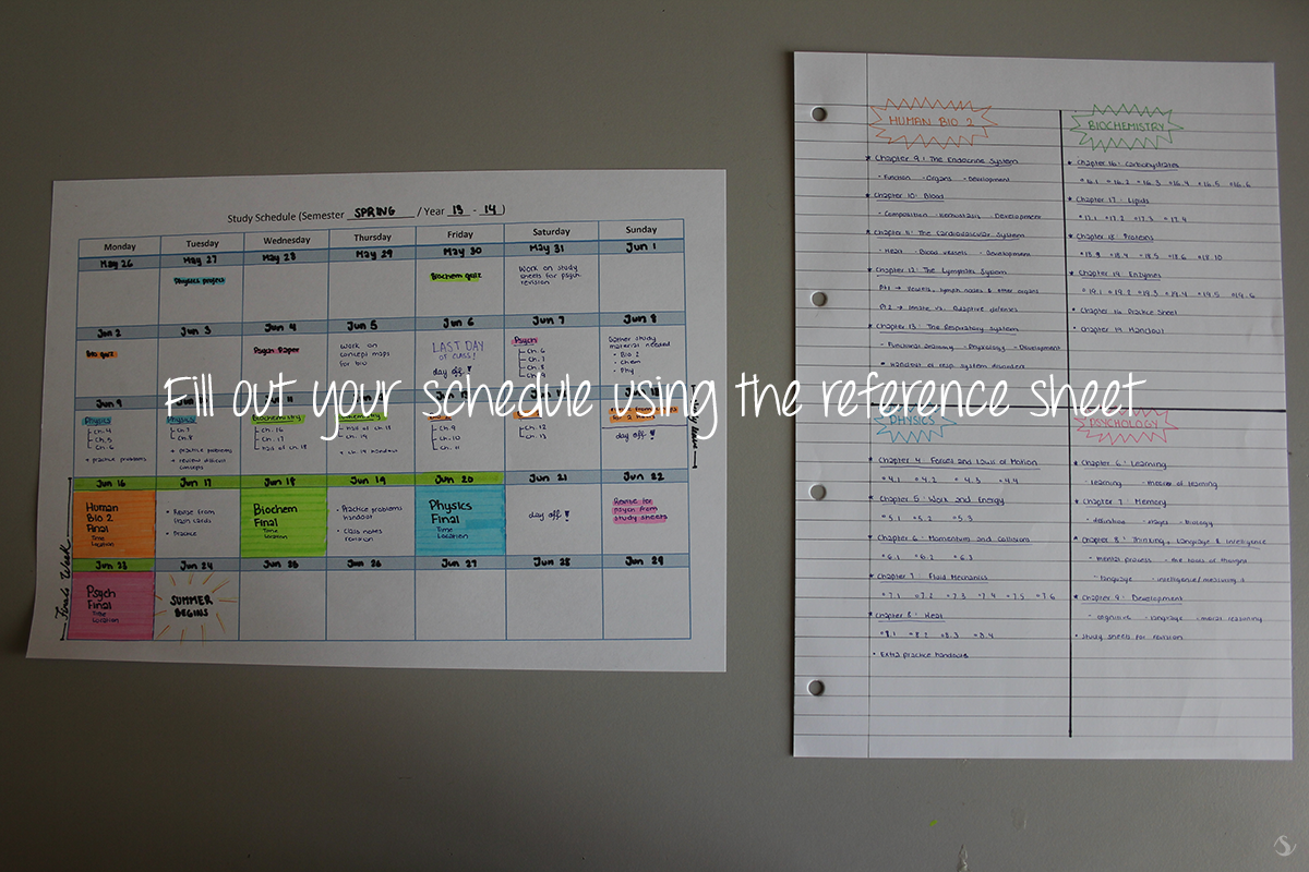 Tutorial On How To Make A Study Schedule With Study Tips
