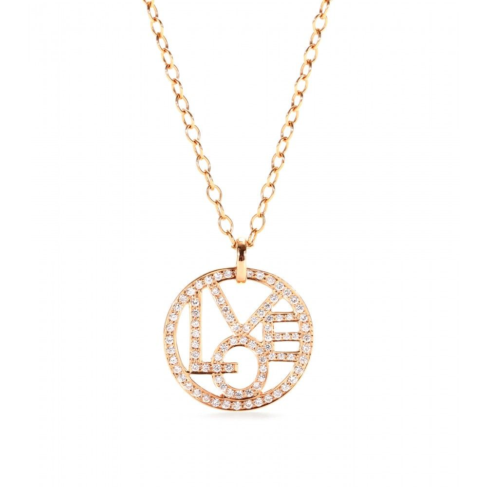 Cada 18k rose gold diamonds love struck pinterest diamond finish your look on a romantic note with cadas rose gold love pendant necklace shimmering and sweet the white diamond encrusted signature writing is aloadofball Image collections