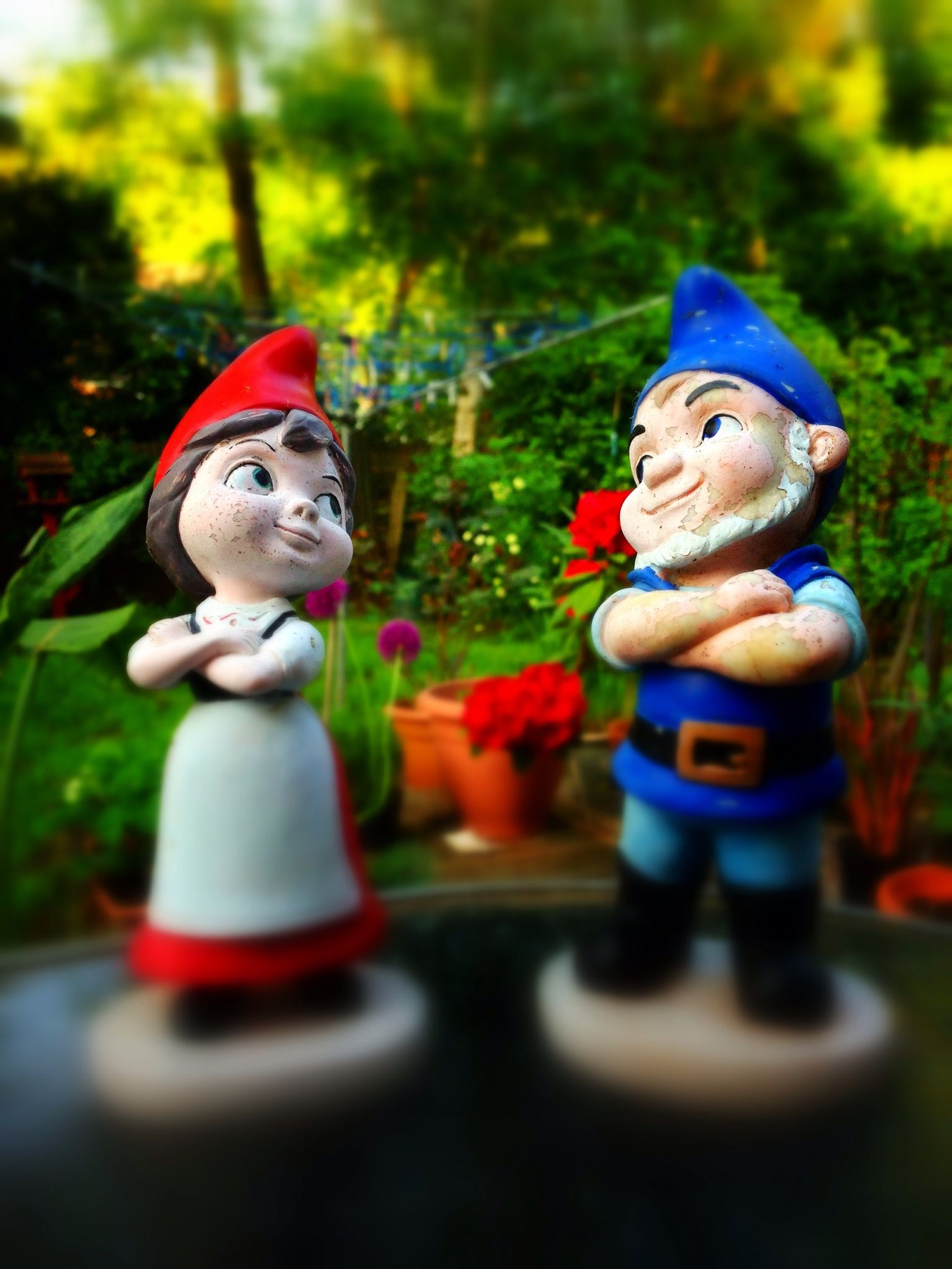 Gnomeo and Juliet | For Viewing Pleasure | Pinterest | Gnome garden ...