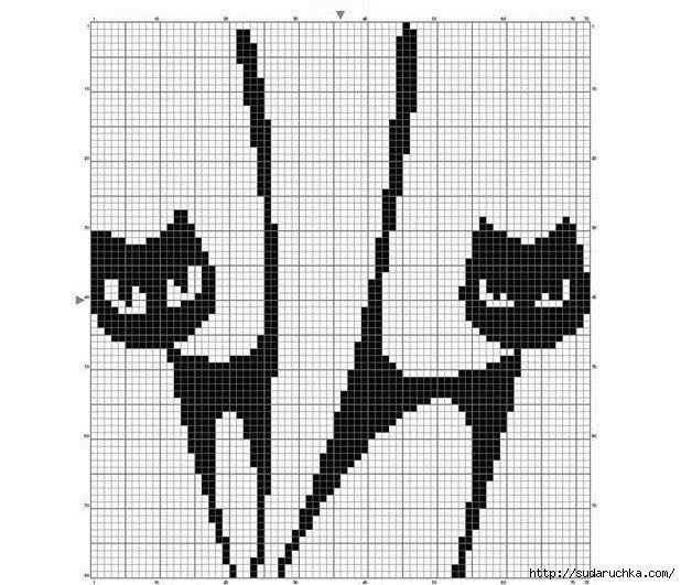 gatinhos+em+ponto+cruz8.jpg (618×531) | GATITOS | Pinterest ...