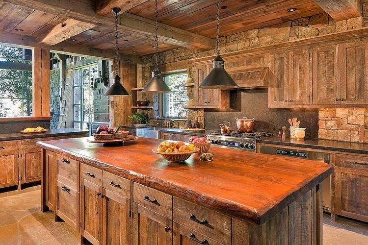 Cuisine Bois De Recuperation En 20 Idees D Amenagement Rustique