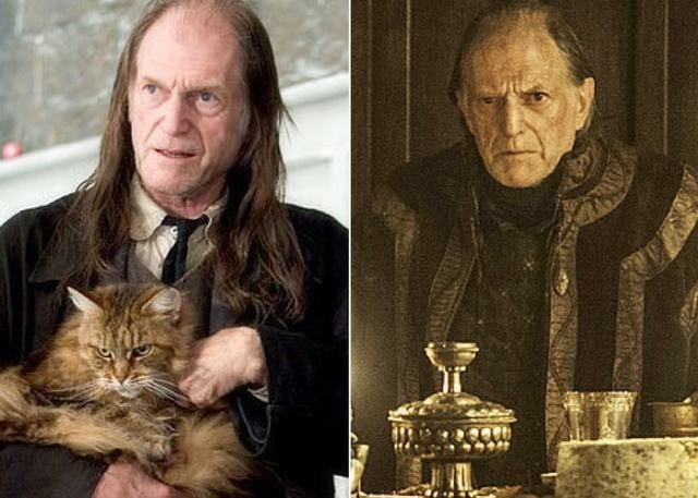 David Bradley Not The Best Looking English Actor But He Was Awesome As Walder Frey In Game Of Thrones Game Of Throne Actors Harry Potter Actors